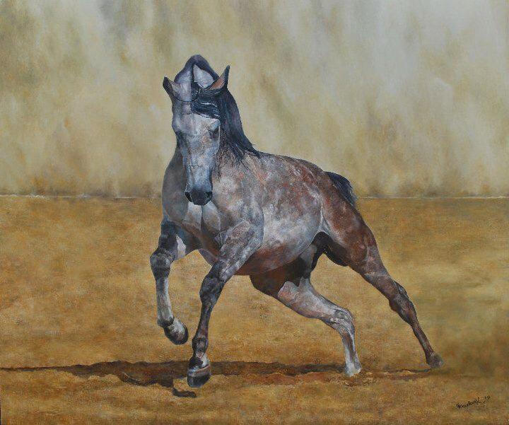 'Arabian Horse in the Desert'