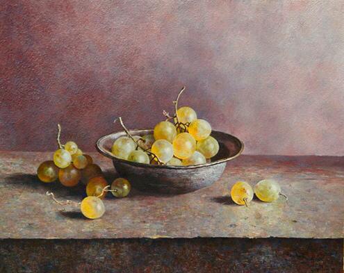 'Grapes and bowl'