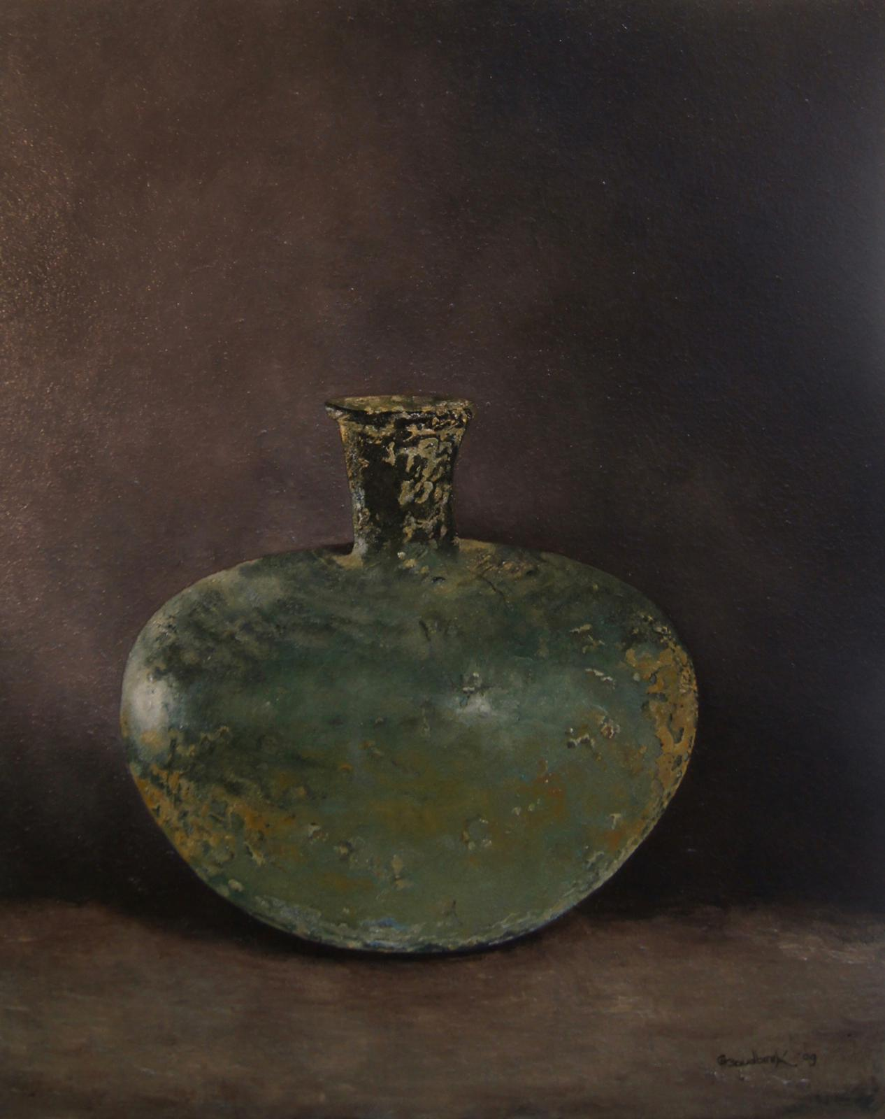 'Antique green vase'