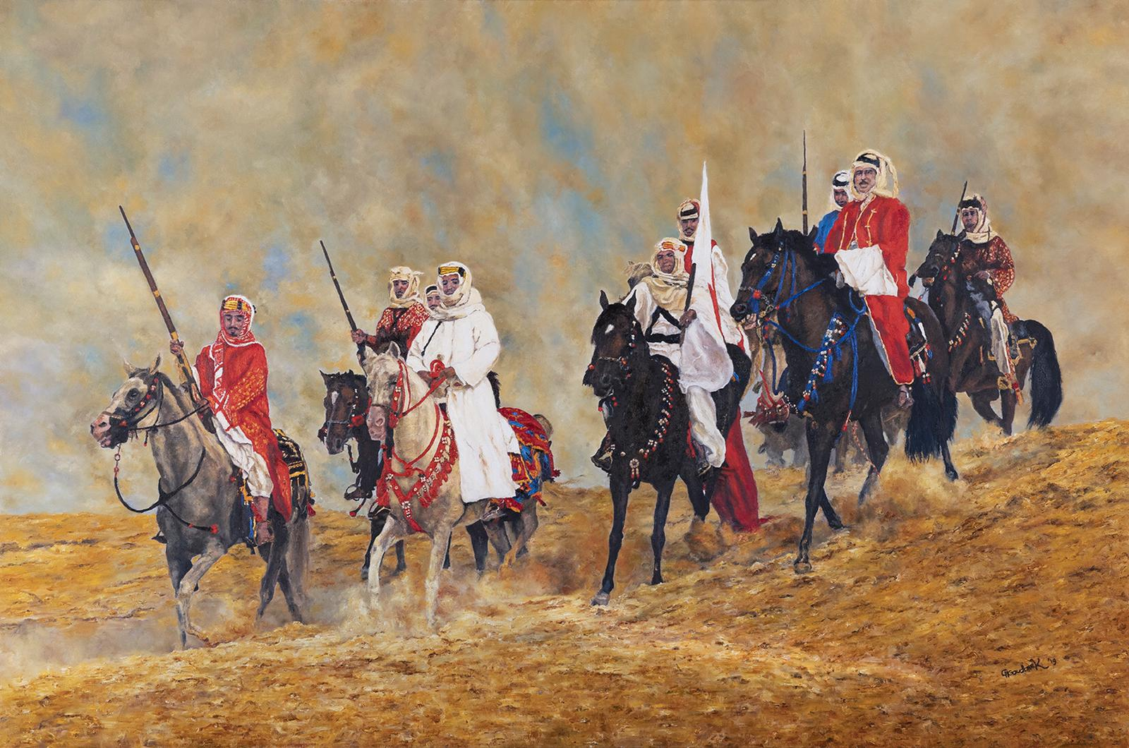 'A traditional Bahraini desert scene'